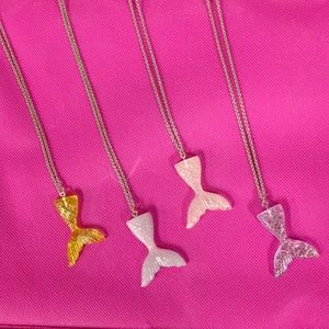 Mermaid tail necklaces